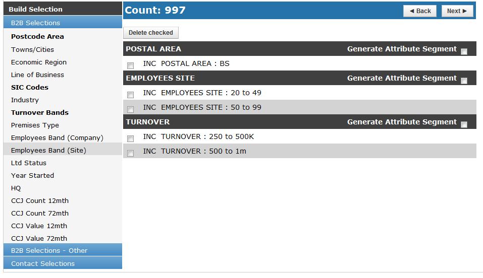 OSCAR 3 - Simple Counts