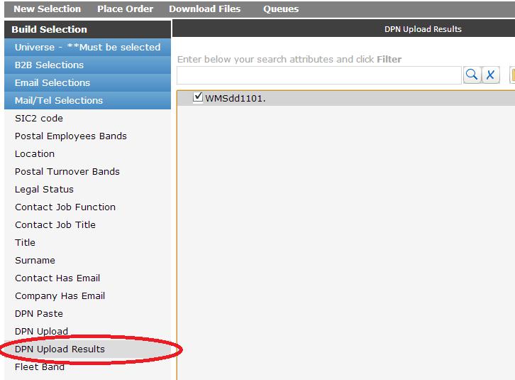 OSCAR 3 - Upload Search