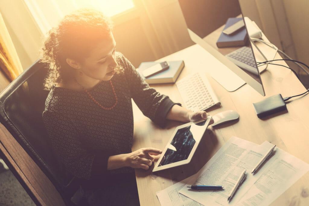 Woman on iPad